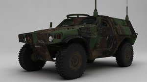3D panhard vbl fighting vehicle model