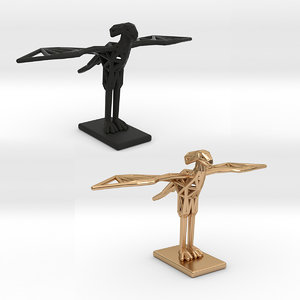 3D secretary bird adults