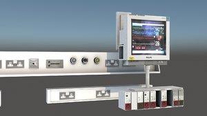 icu monitor 3D model