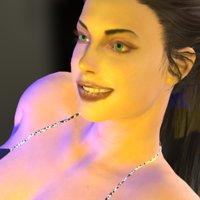 3D realistic fashion rigged