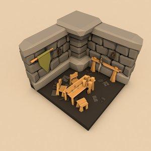 dungeon room 3D model