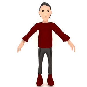 3D man cartoon model