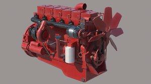 3D cummins 6 engine vehicles model