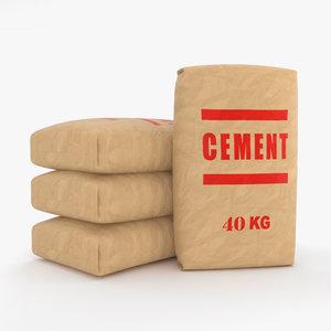 cement bag 3D model