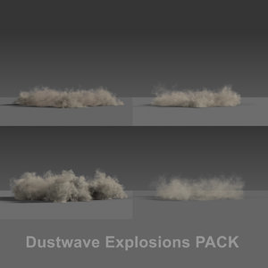 3D dustwave explosions pack