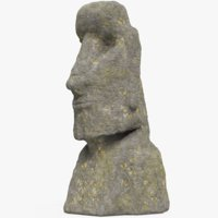 3D easter island moai