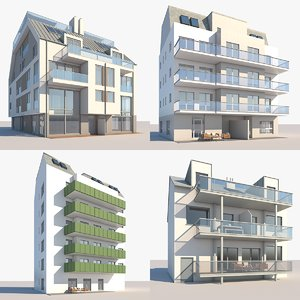 3D model apartment buildings