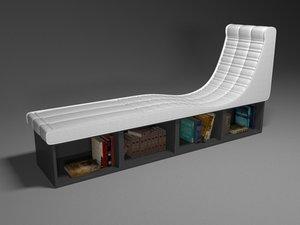 3D armchair - windowsill chair model