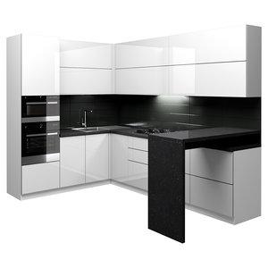 corner kitchen 3D model
