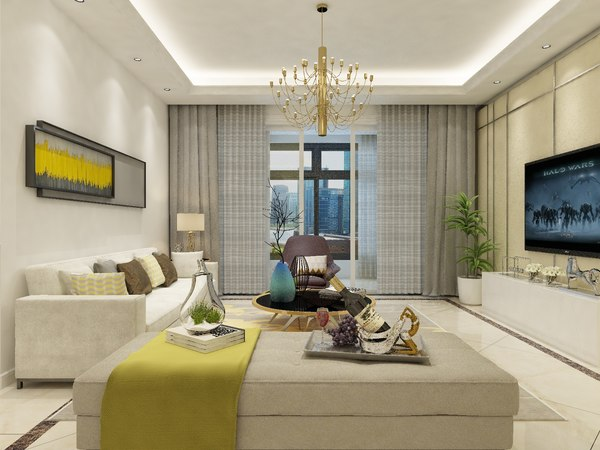 living dining room combo 3D