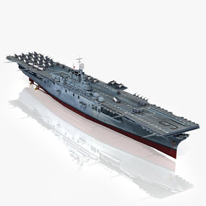 3D uss lexington cv-16 1944-1945
