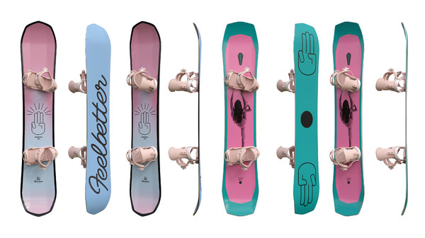 3D snowboards boards 03