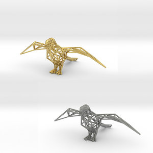 oxpeckers bird animals 3D