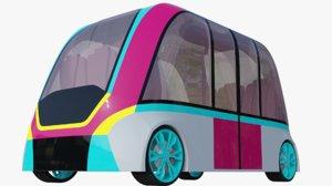 3D model generic minibus
