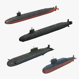 nuclear submarines ssbn 3D model