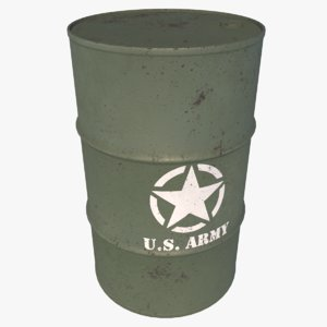 barrel storage 3D model