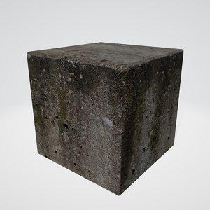 3D concrete block model