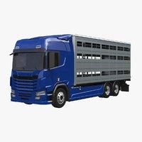 3D model liverstock truck