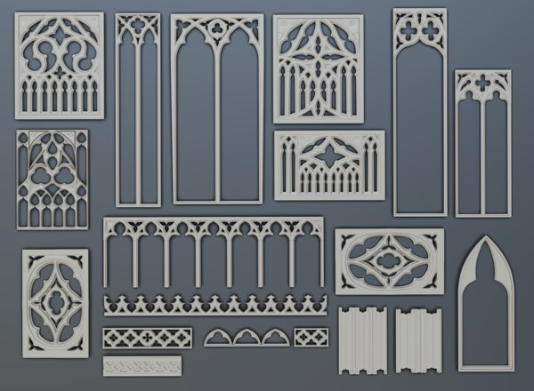 elements gothic 3D