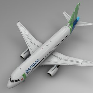 bamboo airways airbus a320 3D model