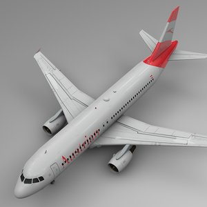 3D model austrian airlines airbus a320