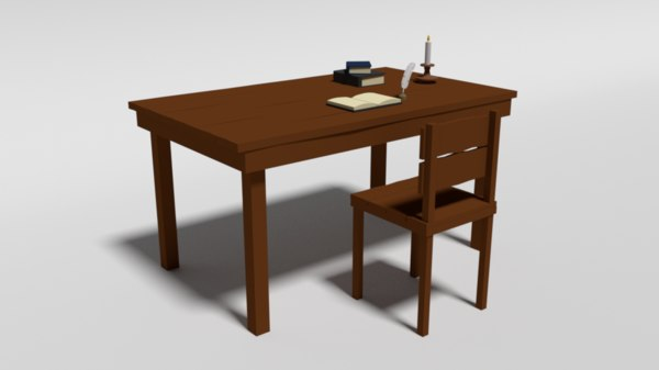 old wooden table chair model