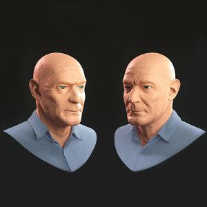 3D old man portrait model