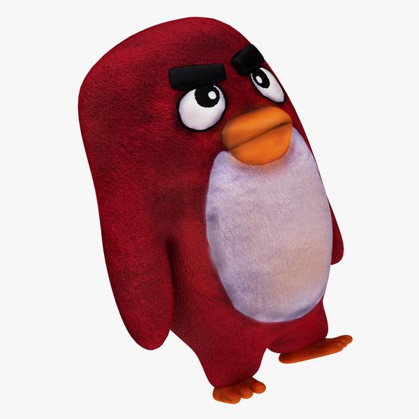 3D plush angry bird model