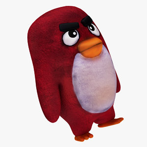 3D plush angry bird model