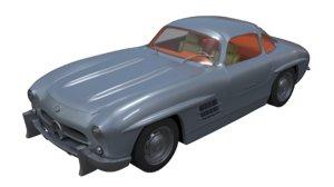3D mercedes benz 300 sl model