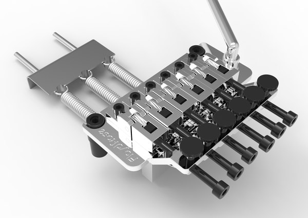 floyd rose tremolo bridge 3D model
