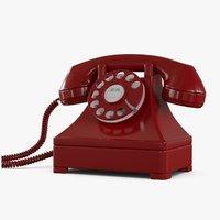 retro phone_red