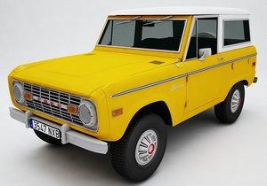 3D model bronco mk1 1975