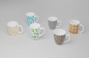 3D cups glasses kitchen