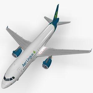 3D airbus aer lingus model