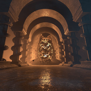 concepts temple secrets 3D model