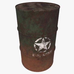 barrel storage pbr 3D model