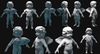 cupid angel for valentines day 3D model
