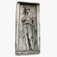 bas-relief woman bow 3D