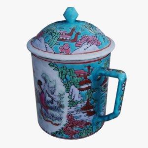 china porcelain cup 1 3D model