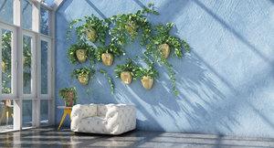3D model plant hanging