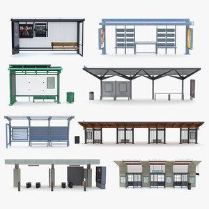 9 bus stop model
