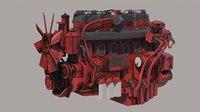 Truck Engine Vray PBR