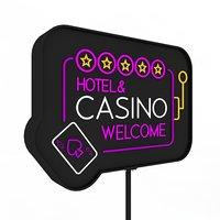 hotel casino sign 3D model
