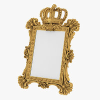 3D realistic baroque picture frame