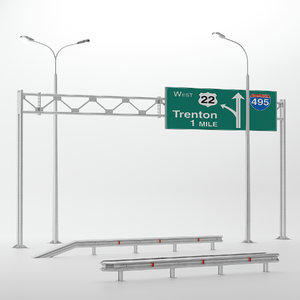highway set 3D