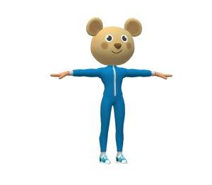 female mouse mascot 3D model