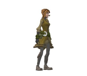 female peasant avatar 3D