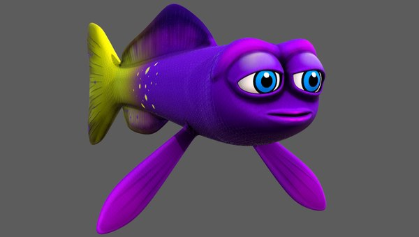 fish v07 cartoon animal 3D model