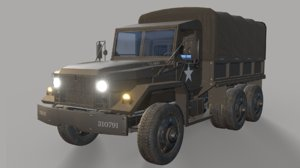 3D jeep m35 cargo truck